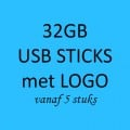 32GB USB STICKS MET LOGO