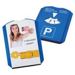 Parkeerschijf met foto of naam bedrukken