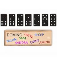Domino met foto, naam, tekst bedrukken, vanaf 1 stuk