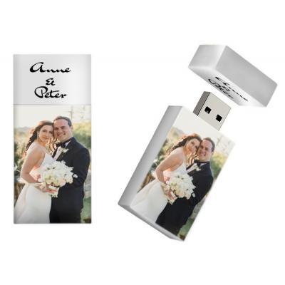 Bruiloft cadeau usb stick met foto / naam