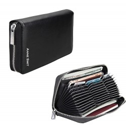 Portemonnee tasje met naam, foto, logo bedrukken (zwart)