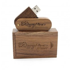 Madrid usb stick en hout doos bedrukken 16GB