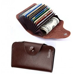 Dames portemonnee kaarthouder met naam