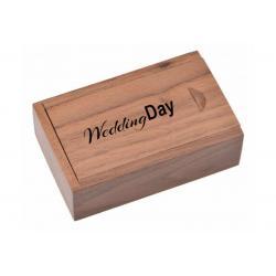 Walnoot hout kleine doos bedrukken