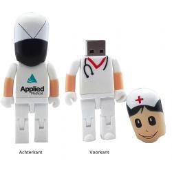 Verpleegster 16GB usb stick met logo, vanaf 5 stuks bedrukken