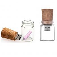 Glazen fles met kurk usb stick. 8gb