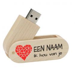 Valentijnsdag cadeau usb stick met naam 8gb - model 1000