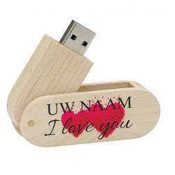 Valentijnsdag cadeau usb stick met naam 8gb - model 1001