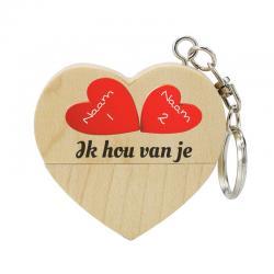 Valentijnsdag cadeau hart usb stick met naam 8gb model 1002