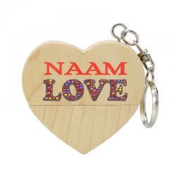 Valentijn cadeau hart usb stick met naam 8gb - model 1010