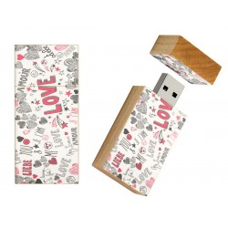 Love cadeautje usb stick 8gb - model 1014
