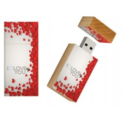 I love you kado rechthoek usb stick 8gb - model 1015