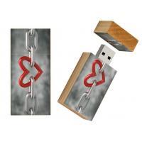 -Liefde rechthoek hout usb stick 8gb - model 1017