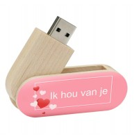 Ik hou van jou cadeau twister usb stick 8gb - model 1021