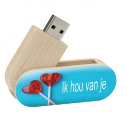Ik hou van je cadeau twister usb stick 8gb - model 1023