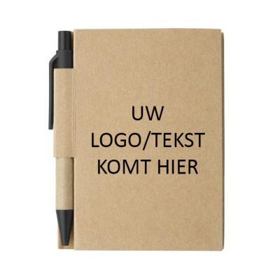 Notitieboekje met balpen, vanaf 25 stuks met logo/tekst bedrukken