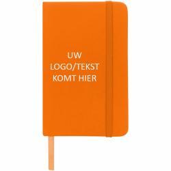 Spectrum A6 notitieboek (oranje) met logo, vanaf 25 stuks bedrukken