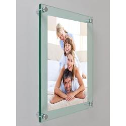 Plexiglas met foto 30 X 42 cm staand ophang model