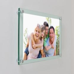 Plexiglas met foto 30 X 42 cm liggend ophang model