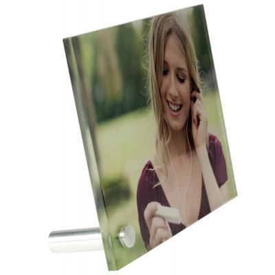 Plexiglas met foto liggend bureau model 150mm X 100mm X 5mm