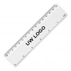 Kunststof liniaal 15cm met logo, vanaf 25 stuks full colour bedrukken