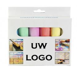 Stoepkrijt met logo, vanaf 25 stuks bedrukken