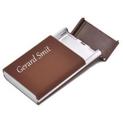 Sigarettenkoker met foto (flip case bruin)
