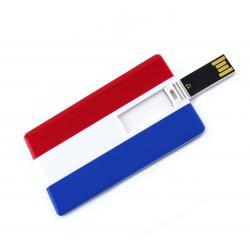Creditcard usb stick Nederlandse vlag 16GB