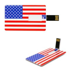 Creditcard usb stick Amerikaanse vlag 8GB