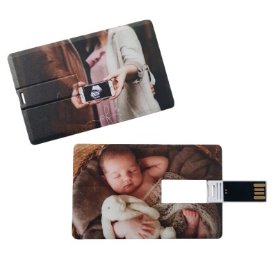 Creditcard usb stick met foto