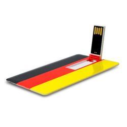 Creditcard usb stick Duitse vlag 8GB