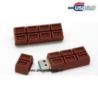3.0 Chocolade usb stick 128gb