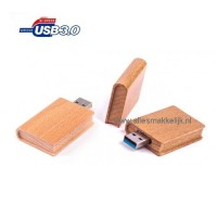 3.0 Hout boek usb stick 16gb