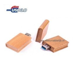 3.0 Hout boek usb stick 32gb