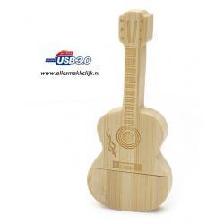 3.0 Hout gitaar usb stick 128gb