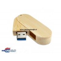 3.0 Hout Twister USB stick 16gb