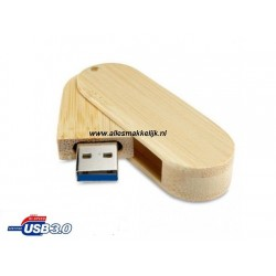 3.0 Hout Twister USB stick 128gb