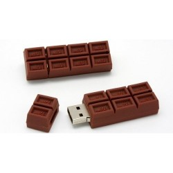 Chocolade usb stick. 4GB