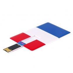 Creditcard usb stick Franse vlag 8GB