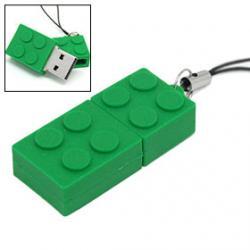 Cadeau ideeen Brick usb stick. 4gb groen