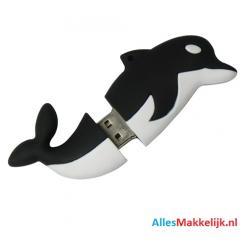 Zwart Dolfijn usb stick. 16gb