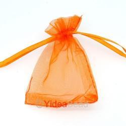 Gratis organza gift zakje voor usb stick. Kleur oranje