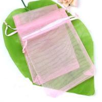 Gratis organza gift zakje voor usb stick. Kleur roze
