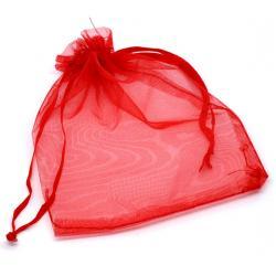 Gratis organza gift zakje voor usb stick. Kleur rood