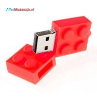 Lego usb stick. 2gb rood