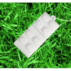 Wit kleur Brick bouwsteen usb stick 8gb