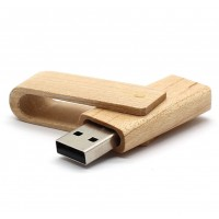 Uitklap hout usb stick 64gb
