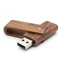 Walnoot hout uitklap USB stick 16gb