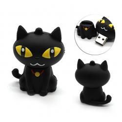 Zwart kat poes usb stick. 32GB