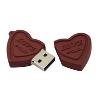 Chocolade hart usb stick 16GB